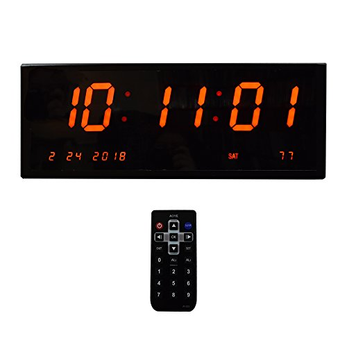 Large Led Digital Clock &Amp; Calendar With 8 Alarms For Desk Or Wall