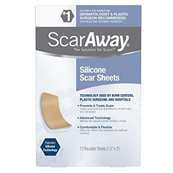 Scaraway Professional Grade Silicone Scar Treatment Sheets, 12 Count ( Packaging May Vary ) -