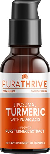Purathrive Liquid Turmeric Extract. Premium Supplement Made With Organic Turmeric, Gmo Free, Made In Usa. Best Absorption And Potency With Liposomal Turmeric