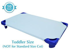 American Baby Company 100% Cotton Percale  Toddler Day Care Cot Sheet, Blue, 23  X 40