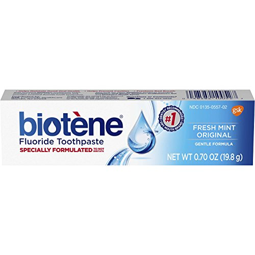 Biotene Fresh Mint Original Fluoride Toothpaste, 0.7 Ounce Trial Size