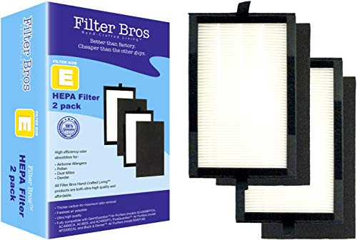 Flt4100 True Hepa Replacement Filter E For Germguardian Ac4100 Home Air Cleaner Purifiers, Ac4100Ca / Ac4150Bl With Pet Technologies, Ac4150Pca Systems Captures Allergies/Pets/Smokers/Germ (2)