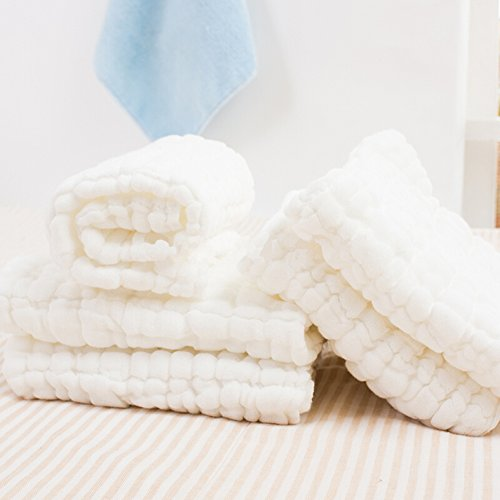 Baby Towels - Medical Grade Natural Antibacterial,Super Soft And Water Absorbent,Newborn Cotton Gauze Towels For Baby Sensitive Skin,Suitable For Baby'S Delicate Skin - Baby Gift,13X13 Inches