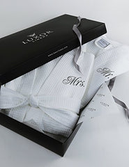 Luxor Linens Egyptian Cotton Mr. &Amp; Mrs. Waffle Robes - Perfect Christmas Gifts! - Mr. &Amp; Mrs. With Gift Packaging
