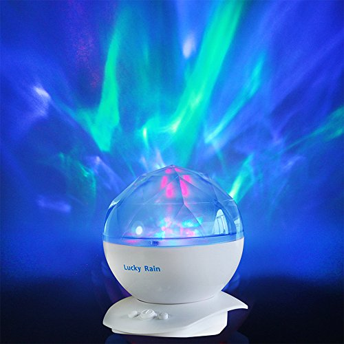 Aurora Borealis Night Light Projector With Music Player Led Color Changing Projection Lamp Relaxing Sleep Soother Mood Lighting For Living Room Bedroom Gift For Teens Kids Birthday Christmas