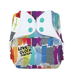Bumgenius Freetime All-In-One One-Size Snap Closure Cloth Diaper (Love)