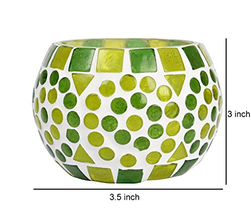 Mosaic Glass Candle Holder 3 Inches