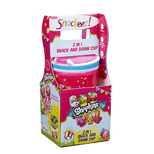 Snackeez Shopkins 2 In 1 Snack And Drink Cup  Cup, Colors And Designs Vary) (Pink)