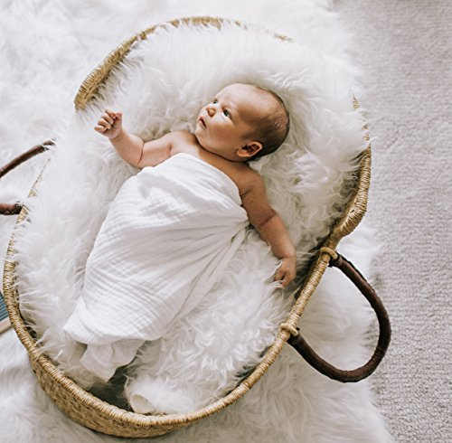 Natemia Extra Soft Muslin Bamboo Swaddle Blankets | Xl Size (47X47) | Great Baby Shower Gift