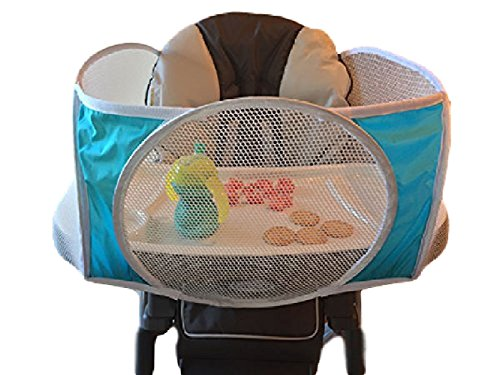 The Original Tray Buddi Keeps Food Toys And Sippy Cups From Falling On The Floor (Aqua)