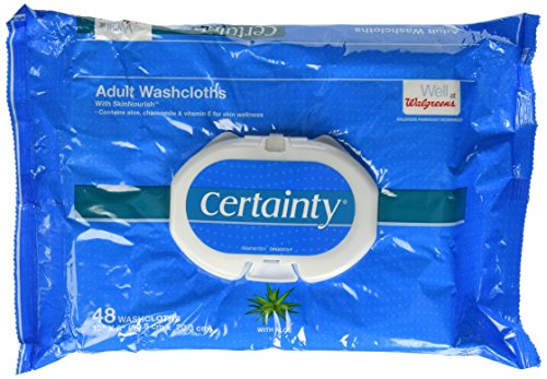 Walgreens Certainty Adult Disposable Washcloths, 48 Washcloths