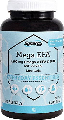 Vitacost Synergy Mega Efa Mini Gels - 1200 Mg Per Serving Omega 3 Epa &Amp; Dha Natural Strawberry -- 240 Softgels