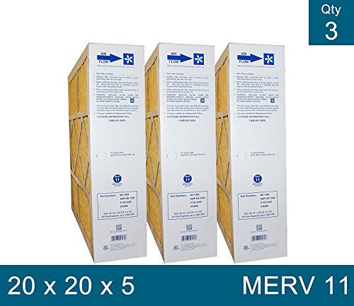 Electro Air M2-1056 Genuine 20X20X5 (Actual Size: 20-1/4 X 20-3/4 X 5-1/4 Merv 11 Goodman, Electro-Air, Five Seasons, Carrier, Amana 20X20 Media Filters Case Of 3 Filters