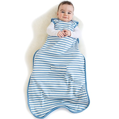 Woolino Baby Sleeping Bag - 4 Season - Merino Wool - 2Mo - 2Yr - Blue Bell