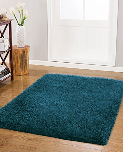 Vista Living Claudia Shag Area Rug 27 In. X 45 In., Teal