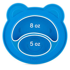 Nuby Sure Grip Miracle Mat Section Plate, Blue Bear
