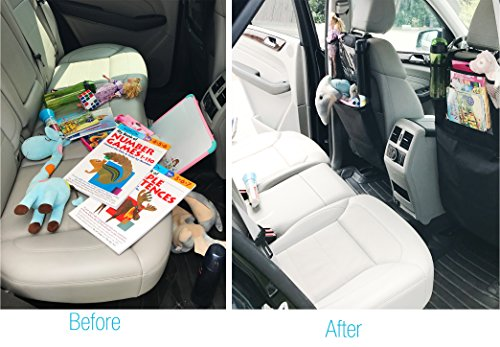 Kick Mats Organizer For Car Seat Back Protector With 10.1  Clear Tablet Holder For Kids Toys Travel Accessories - By Sodee
