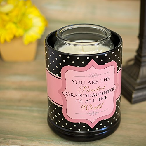 Elanze Designs Sweetest Granddaughter In The World Ceramic Stoneware Electric Large Jar Candle Warmer