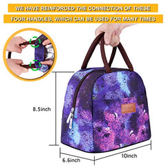 b86efe7fd471 Baloray Lunch Bag Tote Bag Lunch Bag For Women Lunch Box Insulated Lunch  Container (G-197S Starry)