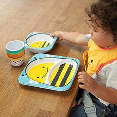 Skip Hop Baby Zoo Little Kid And Toddler Melamine Feeding Divided Plate, Multi Brooklyn Bee