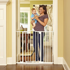 Tall & Wide Portico Arch Gate, Linen, Fits Spaces Between 28.2 To 46.8 Wide And 36High