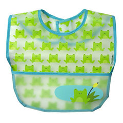 Green Sprouts 3 Piece Wipe-Off Bibs, Aqua Pond, 9-18 Months