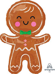 Anagram International, Inc. 93384 Happy Gingerbread Man Party Balloon 31  Red