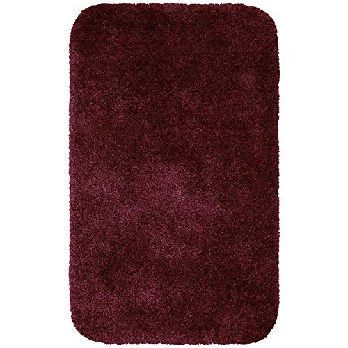 Maples Rugs Bathroom Rugs - Colorsoft 23.5  X 39  Non Slip Washable Bath Mat [Made In Usa} Soft &Amp; Quick Dry For Vanity And Shower Crimson Victory
