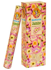 Jasmine Incense Sticks From India - 120 Sticks - Made From Natural Scented Oil - Kanaiya Brand By Tikkalife