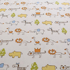Crib Sheet Uomny 100% Cotton Baby Coverlet For Baby Girl And Baby Boy 2 Pack(Elephant Pattern/Lion Pattern )