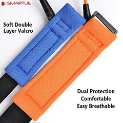 Smartue Child Wrist Straps Kids Safety Leash Safe Skin Friendly Anti Pricking Cotton, Anti Lost Belt Toddler Harness Belts For Kids Runner Pre-Schooler (Length 2.5Mm For Orange And Blue Color)