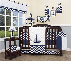 Geenny Baby Nautical Explorer 13 Piece Nursery Crib Bedding Set