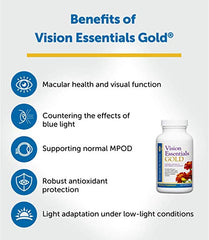 Dr. Whitakers Vision Essentials Gold With 40 Mg Of Lutein Plus 15 Ingredients For Premium Eye Nourishment And Support, 360 Capsules (90-Day Supply)