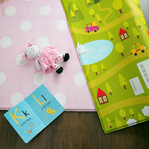 Baby Care Play Mat Country Town, Pink, Large