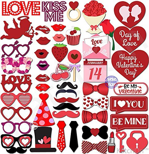 Valentines Day Photo Props - Valentines Day Decorations - Wedding, Birthday, Bridal Shower, Bachelorette Party Supplies - Great For Photography