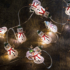 Primitives By Kathy Miniature Battery Operated Wire Light Strand 5' Long (Snowman)