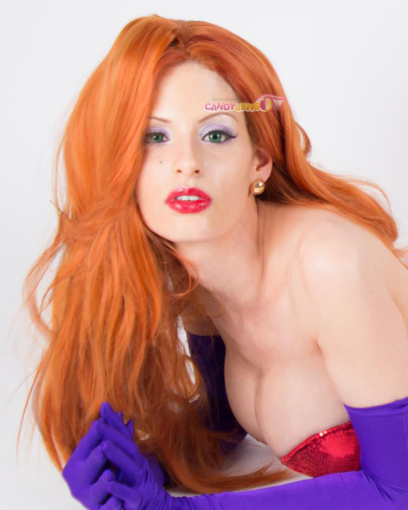 Dolly Eye Green Jessica Rabbit Cosplay