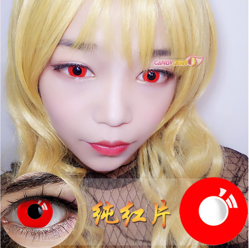 Solid Red Cosplay Halloween Contacts