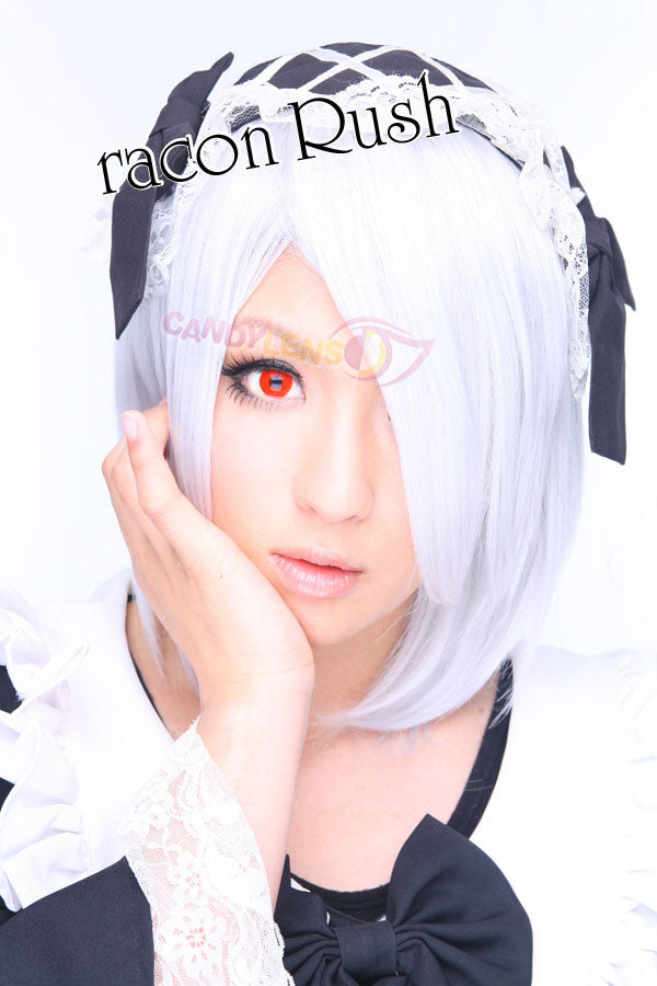 Pure Red Cosplay Halloween Contact Lens