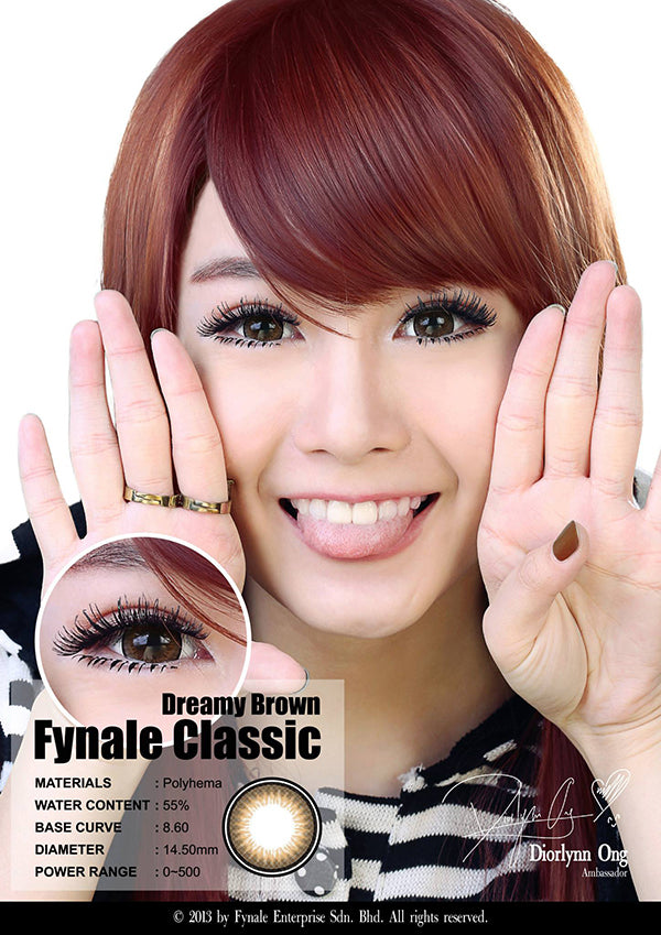 fynale dreamy brown circle lens