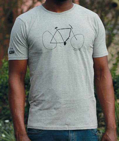 Charity T-shirt Men's - Grey Melange