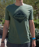 Charity T-shirt Men's - Green Melange