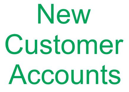 Creating New Customer Accounts
