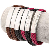 Leather Classic Braided Rope Bracelet