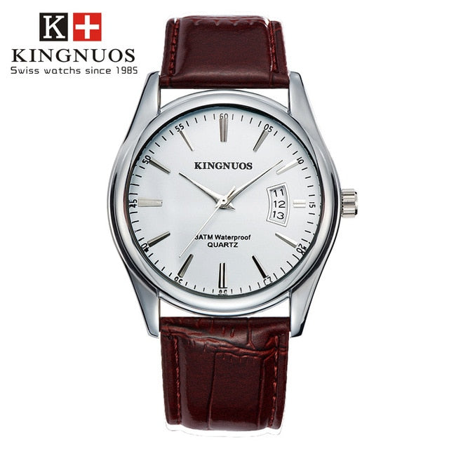Hendrix Luxury Leather/Steel Watch