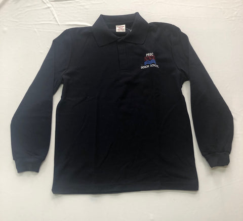 Patterson River VCE L/S Polo Navy