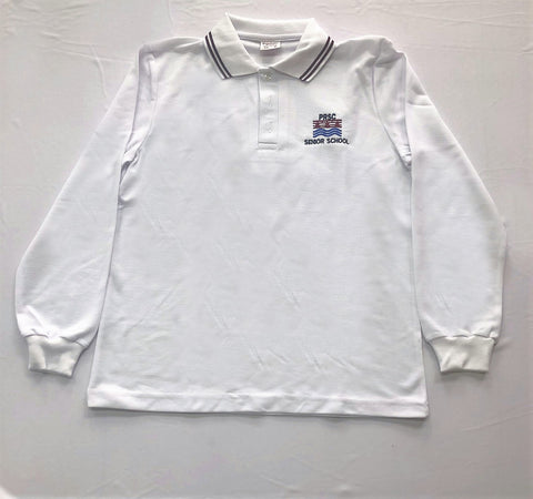 Patterson River VCE L/S Polo White