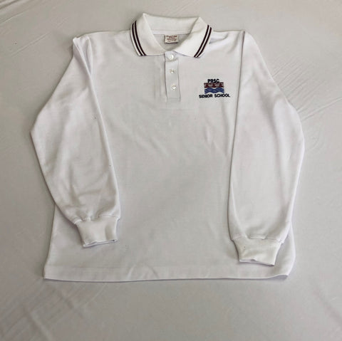 Patterson River L/S Polo White