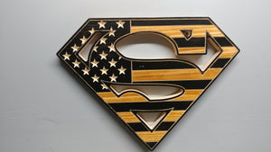 Rustic Superman Inspired Flag