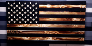 Subdued Style Wooden American Flag
